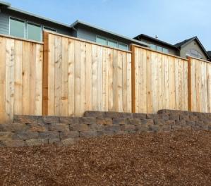 New Homes Backyard Wood Fence