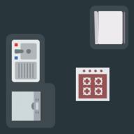 Island shape kitchen layout