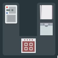 U shape kitchen layout